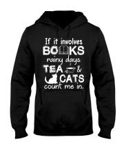 Books - Tea - Cats Hooded Sweatshirt thumbnail
