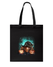 Cat light and pumpkin Tote Bag thumbnail
