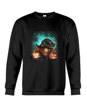 Cat light and pumpkin Crewneck Sweatshirt thumbnail