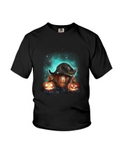 Cat light and pumpkin Youth T-Shirt thumbnail
