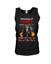 Black Cat Family Halloween Unisex Tank thumbnail