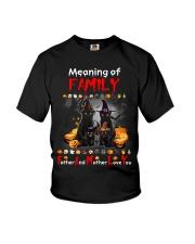 Black Cat Family Halloween Youth T-Shirt thumbnail