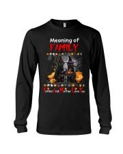 Black Cat Family Halloween Long Sleeve Tee front