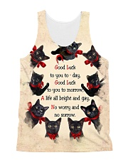 THEIA Black Cat Good Luck 1107 All-over Unisex Tank front