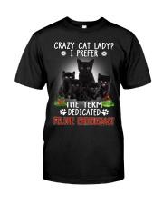 Crazy Cat Lady Classic T-Shirt front