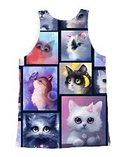 Cat bubble 0211 All-over Unisex Tank back