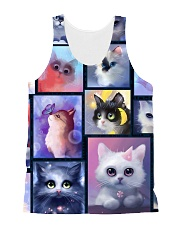 Cat bubble 0211 All-over Unisex Tank front