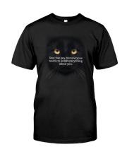Black Cat Stay low key 1311 Classic T-Shirt thumbnail