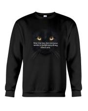 Black Cat Stay low key 1311 Crewneck Sweatshirt front