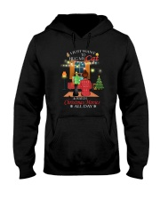 Black cat and Xmas movies Hooded Sweatshirt thumbnail