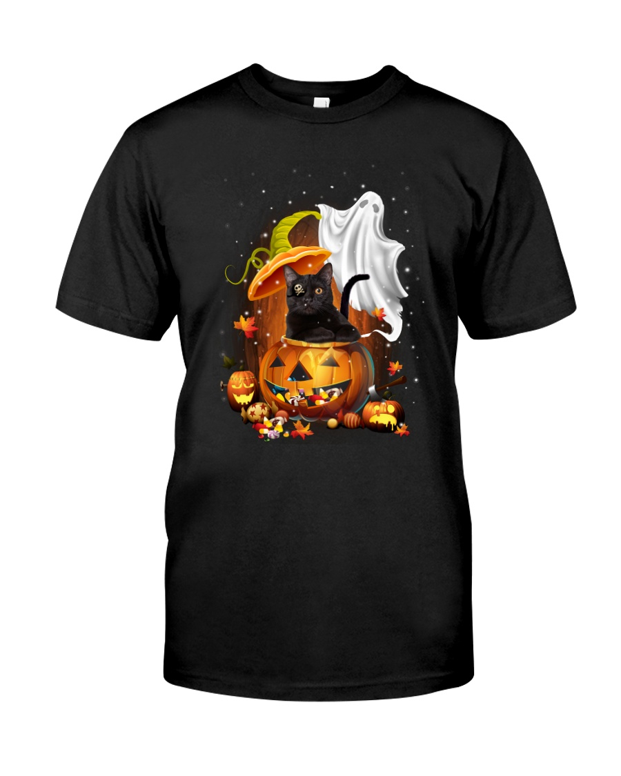 Black Cat and Ghost 0708 Classic T-Shirt