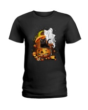 Black Cat and Ghost 0708 Ladies T-Shirt thumbnail