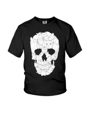 Sketchy Cat Skull Youth T-Shirt tile