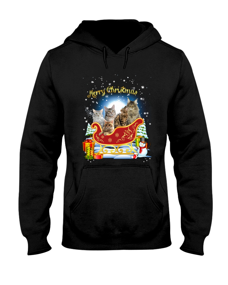 HEMERA - Maine Coon Sleigh - 1511 - 72 Hooded Sweatshirt