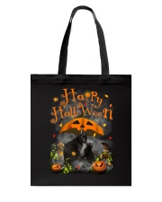 Black Cat Happy Halloween Tote Bag tile
