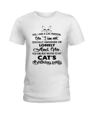 Cats birthday Ladies T-Shirt thumbnail
