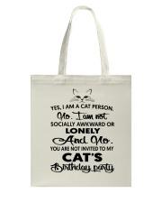 Cats birthday Tote Bag thumbnail