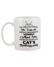 Cats birthday Mug back