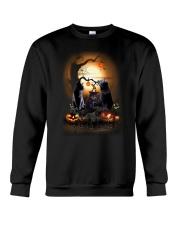 Blackcat Family Halloween  Crewneck Sweatshirt front