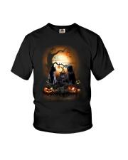 Blackcat Family Halloween  Youth T-Shirt thumbnail