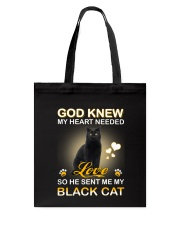 He sent me my Black cat Tote Bag thumbnail