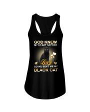 He sent me my Black cat Ladies Flowy Tank thumbnail
