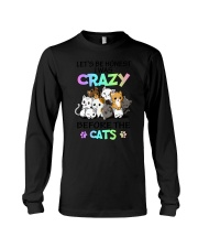 Cats I was crazy Long Sleeve Tee tile
