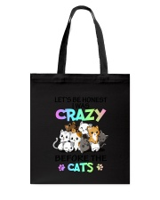 Cats I was crazy Tote Bag tile