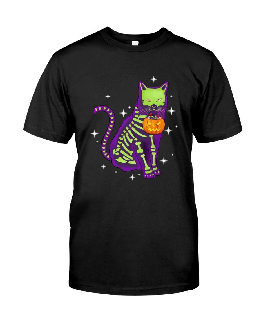 Cat skeleton 0308 Classic T-Shirt