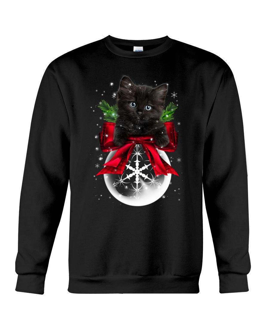 Black cat Snowball 0712 Crewneck Sweatshirt