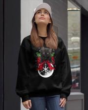 Black cat Snowball 0712 Crewneck Sweatshirt lifestyle-unisex-sweatshirt-front-1