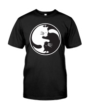 Cat Yin Yang Classic T-Shirt front
