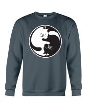 Cat Yin Yang Crewneck Sweatshirt thumbnail