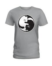 Cat Yin Yang Ladies T-Shirt thumbnail