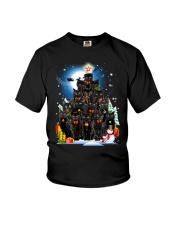 Black Cat Christmas 3007 Youth T-Shirt thumbnail