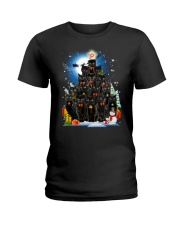 Black Cat Christmas 3007 Ladies T-Shirt thumbnail