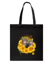 Cats and sunflowers Tote Bag thumbnail