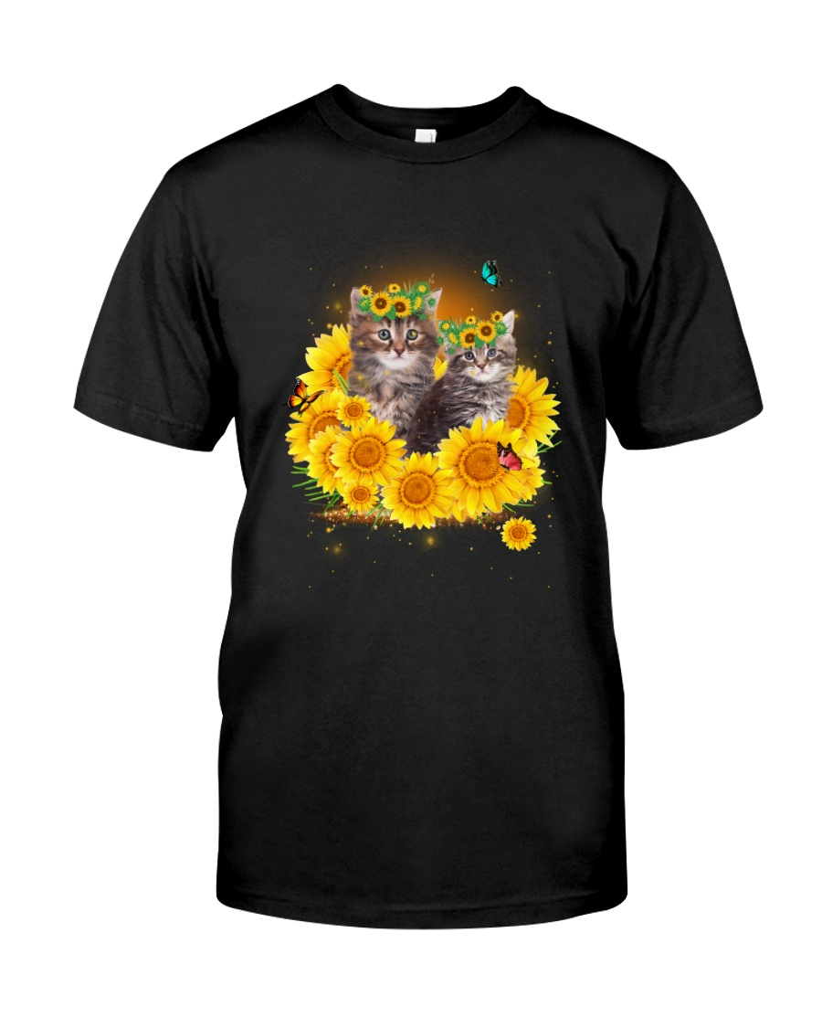 Cats and sunflowers Classic T-Shirt
