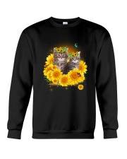 Cats and sunflowers Crewneck Sweatshirt thumbnail
