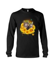 Cats and sunflowers Long Sleeve Tee thumbnail