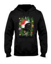 Black Cat In Christmas Tree Hooded Sweatshirt thumbnail