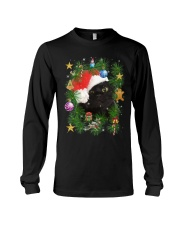Black Cat In Christmas Tree Long Sleeve Tee thumbnail