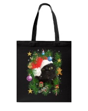 Black Cat In Christmas Tree Tote Bag thumbnail