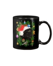 Black Cat In Christmas Tree Mug thumbnail