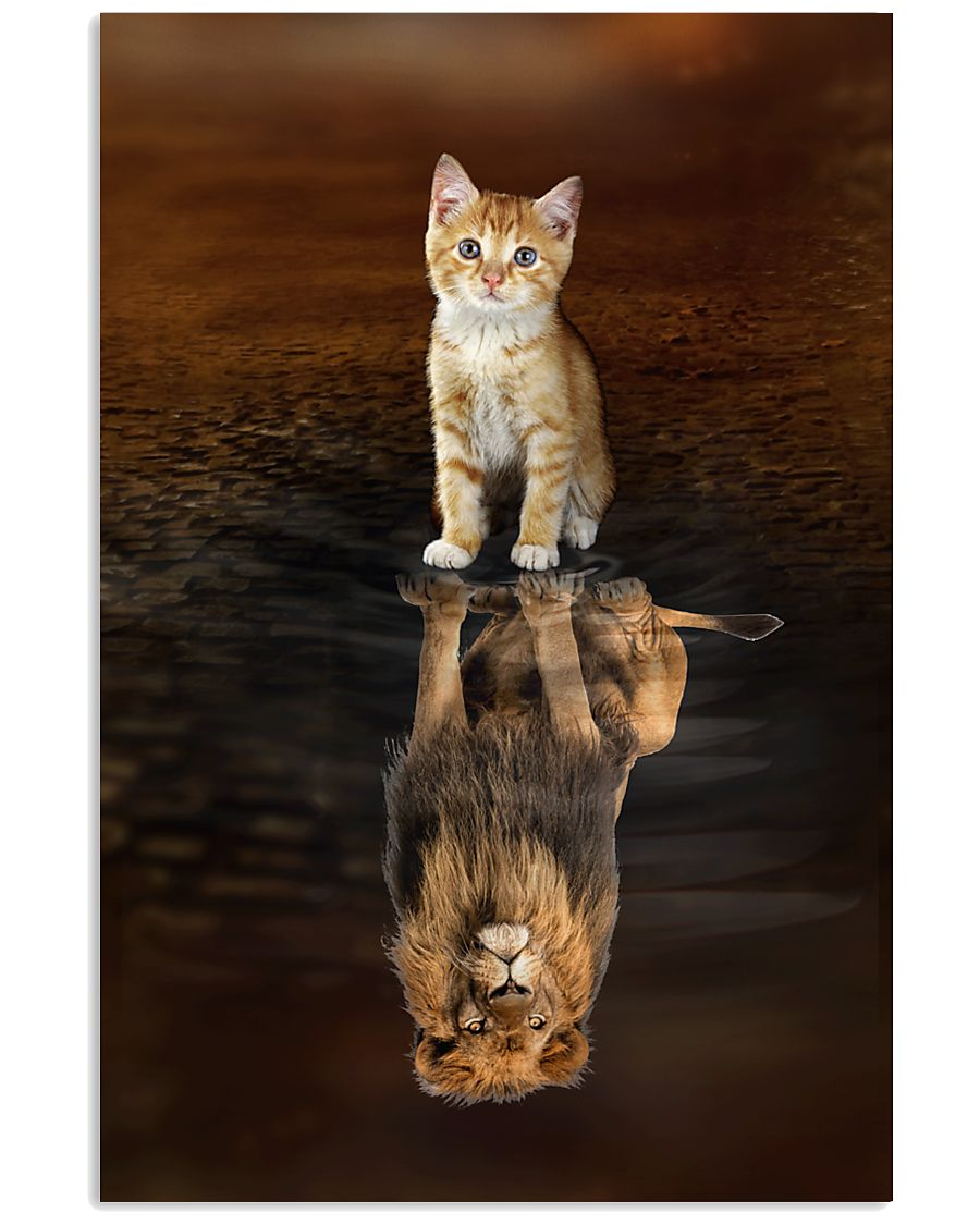 Cat and Lion 11x17 Poster