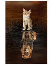 Cat and Lion 11x17 Poster front