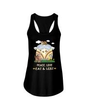 Peace Love Cat LGBT Ladies Flowy Tank thumbnail