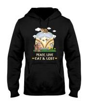Peace Love Cat LGBT Hooded Sweatshirt thumbnail