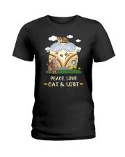 Peace Love Cat LGBT Ladies T-Shirt thumbnail