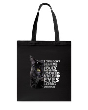 Black Cat and eyes Tote Bag thumbnail